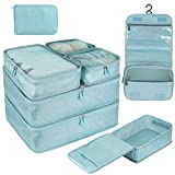 DIMJ Packing Cubes for Travel, 8 Pcs Travel Cubes for Suitcase Lightweight Travel