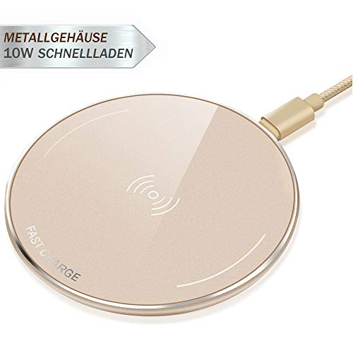 LUXSURE Qi Wireless Charger Schnell Induktion Ladegerät für iPhone XS/xs max/xr/x/8/8 Plus Qi Ladestation Metallgehäuse für Samsung Galaxy 9/s9/s9+/s8/Note 8/s7/s7 edge/S6/S6 Edge
