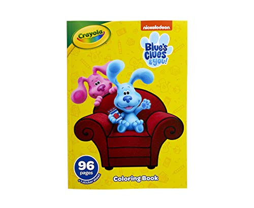 Crayola Blues Clues Coloring Book with Stickers, Gift for Kids, 96 Pages, Ages 3, 4, 5, 6