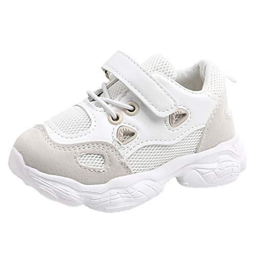 Recién Nacido Zapatillas de Deporte Bebé Prewalker de Suela Blanda Antideslizante Zapatos de Cuna Antideslizante Transpirable para Bebé Niñas Niños Fannyfuny