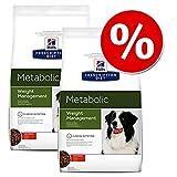 Hills Prescription Diet Metabolic Weight Management - Comida para perros con pollo (2 x 12 kg)