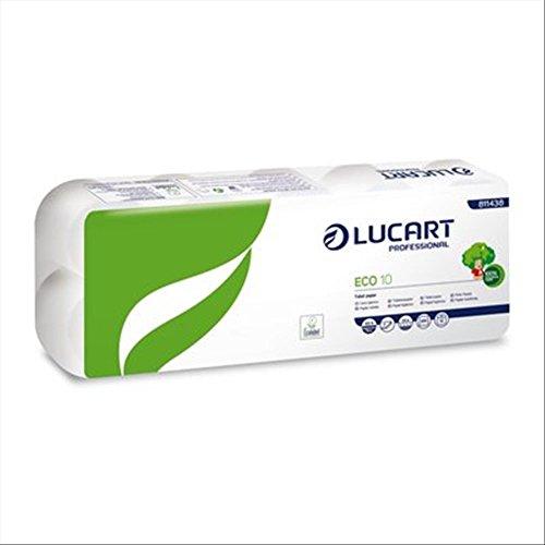 Lucart ecologisch hygiënisch papier 2-laags - 200 scheuren verpakking met 10 stuks