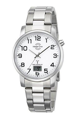 Master Time Funk Quarz Herren Uhr Analog-Digital mit Edelstahl Armband MTGA-10300-12M