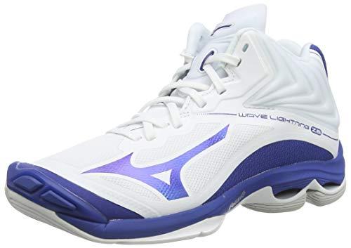 Mizuno Wave Lightning Z6mid, Zapatos de Voleibol Unisex Adulto, Blanco (Wht/10249c/Trueblue 21), 45 EU