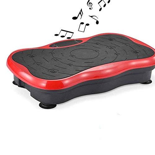 YYCHJU Plataforma Vibratoria Ultra Slim Inicio Multifuncional Cuerpo de la máquina de vibración silenciosa Lazy Sacudiendo la máquina, aparatos de Ejercicios en casa, Placa de vibración (Color : Red)
