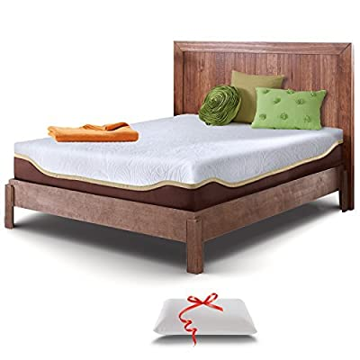 Live and Sleep Resort Elite 10-Inch Cooling Gel Memory Foam Mattress with Memory Foam Pillow