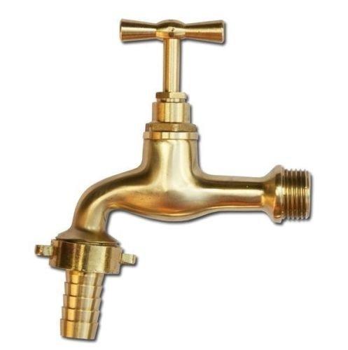 Wasserhahn Auslaufhahn Gold für 1/2 Zoll Schlauch für Garten Keller Regentonne