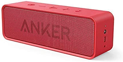 Anker Soundcore 24-Hour Playtime Bluetooth Speaker with 10W Limited Output, Stereo Sound, Rich Bass, 66 ft Bluetooth Range, Built-in Mic. Portable Wireless Speaker for iPhone, Samsung, and More - Red