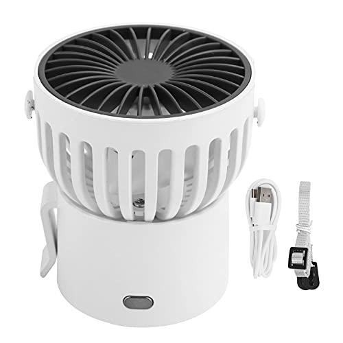 Fdit Ventilador de Cuello Colgante, Ventilador de refrigeración portátil, Ventiladores USB de Escritorio Recargables con cordón, para Viajes al Aire Libre, Oficina en casa, batería de 1000 mAh