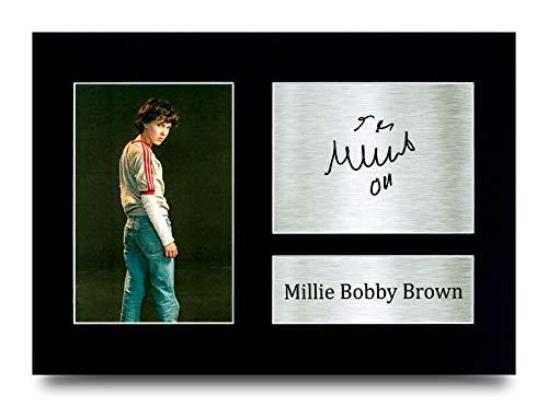 HWC Trading Millie Bobby Brown Stranger Things Eleven Gifts - Foto autografata per Fan della TV, Formato A4