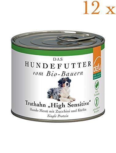 defu Vorteilspack Hund High Sensitive- Menü Truthahn getreidefrei 12 x 200 g