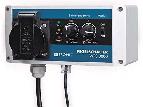 H-Tronic WPS 3000 Wasserpegelschalter mit Wassersensor und 10m Sensorkabel 3000W Wassermelder