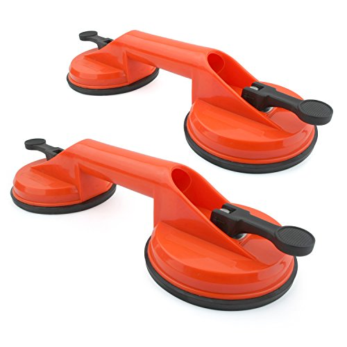 Incutex 2X Double Suction pad Dual Suction Cups Heavy Duty Suction Cups Glass Lifter Glass Suckers, 100...
