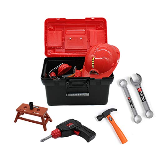 XWEM Children's Simulation Toys,Boys Repair Kit Educational Toys Electric Drill Screwdriver Toy Set Enhance Hands-on ability