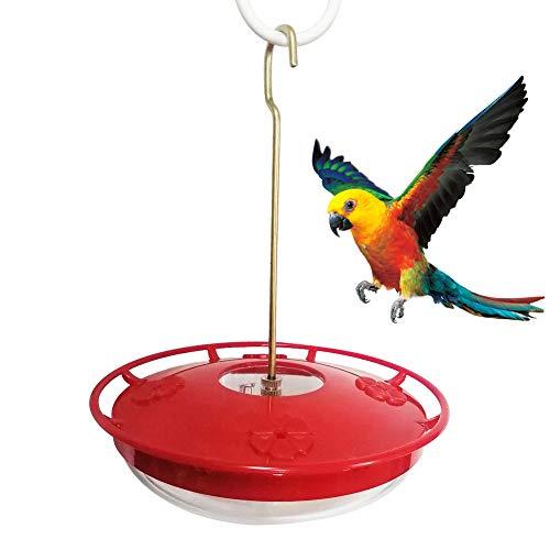Bluelans Mangeoire à colibri à suspendre avec 8 ports d'alimentation, distributeur de nourriture pour oiseaux à suspendre pour le jardin 340 ml Rouge