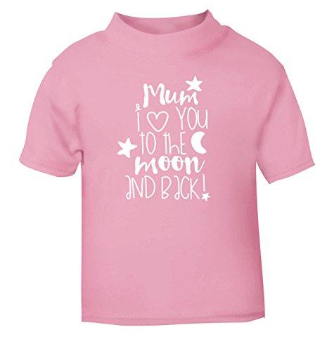Flox Creative T-Shirt pour bébé Motif Maman Love You Moon Back Noir - Rose - 6-12 Mois