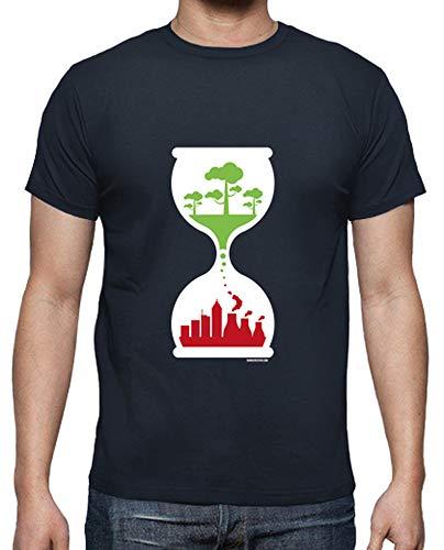 tostadora - T-Shirt Orologio Ecologico - Uomo Blu Marino S