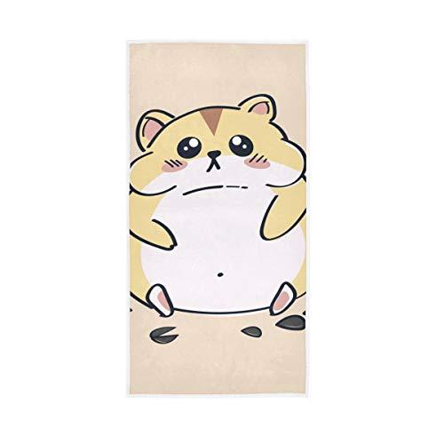 Rootti Toalla de mano de algodón con patrón de hámster, lavable, toalla de cara, suave y transpirable, juego de toallas para nadar y hotel