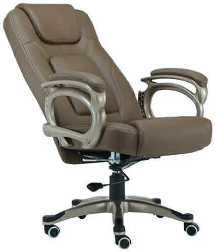 XBSXP Executive Recline Chairs with Armrest, Adjustable Height 350- Pound Capacity Swivel Ergonomic Executive Gaming Swivel Seat Chair Padded Office Chair (Color : Brown)