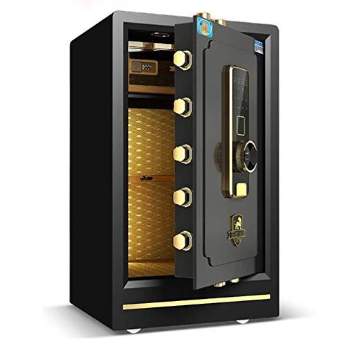LP-LLL Schranksafes - Möbeltresore Tresore Büro Fingerabdruck Sicherer Haushalt Ganzer Stahl Kleiner Tresor Sicherheit Doppelpasswort Sichere Geldaufbewahrung (40 * 36 * 50 cm)