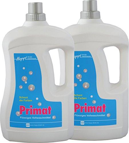 Hepp GmbH & Co KG – Primat Vollwaschmittel-Konzentrat flüssig 6000 ml (2 x 3000 ml Henkelflasche) 170 WL