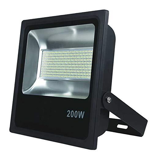 Foco Proyector LED 200W Alta Potencia Luz Blanco Frio K6000 IP65 Luminaria Exterior Estadio Jardin Fachada Nave industrial Gasolineras Futbol Tenis Padel Restaurante