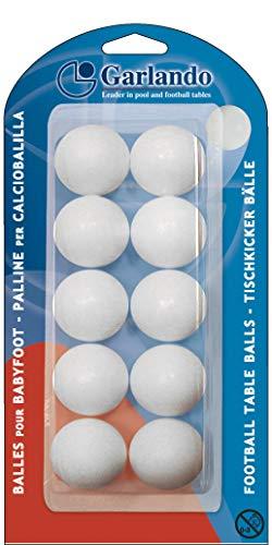 Garlando - Palline da Calcio Standard Unisex, 33,1 mm, Colore: Bianco