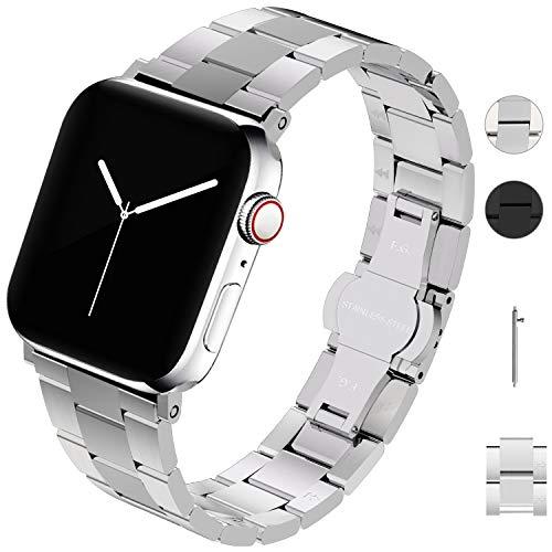 Cinturino per Apple Watch 42mm/44mm 38mm/40mm , Bracciale di Ricambio Compatibile con iWatch 5 4 3 2 1,Cinturino per Orologio di rimozione Senza Attrezzi in Acciaio Inossidabile per Apple Watch
