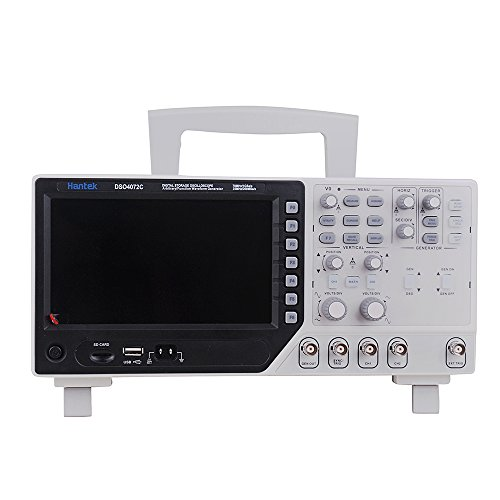 Hantek - Osciloscopio digital DSO4072C, USB, 2 canales, 70 Mhz
