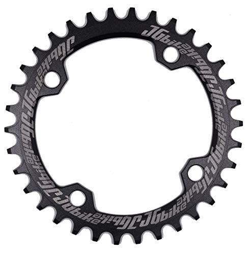 JGbike Elite Round Oval 104mm BCD 32T 34T 36T 38T Narrow Wide Single Chainring for 8 9 10 11 12 Speed MTB XC Trail e-Bike Fat Bike Mountain Bike Bicycle