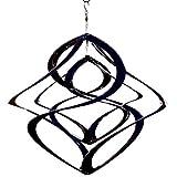 Pommerntraum  | ROSTFREI - Edelstahlwindspiel | Windspiel Edelstahl | Winddancer | Double-Twister | Twister | Gartendeko | Gartenstecker | Garten Kunst | 50 cm - XXL