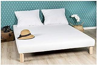 By sommiflex Sommier tapissier 140x190cm Fabrique en France Pieds Fabrication Francaise