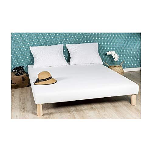 By sommiflex Sommier tapissier 140x190 Fabrique en France Pieds Fabrication Francaise
