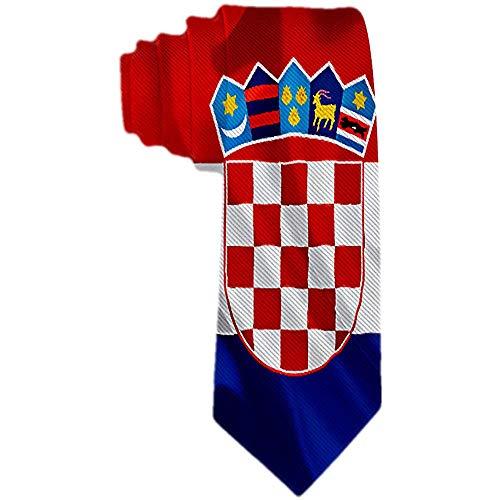 Männer 'S Krawatte kroatische Flagge winken Polyester Seide Krawatte