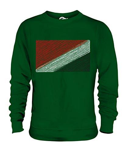 Candymix - Sudadera unisex con diseño de bandera de garabatos de Sealand Verde verde oscuro S