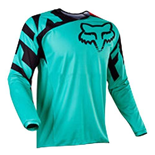 Maillot VTT Cyclisme en Plein Air Sport Vélo Costume Costume Chemise à Manches Longues Service Moto Hors Route T-Shirt à Manches Longues Costume De Descente (8,M)