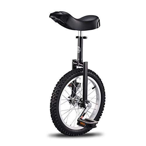 BQKOZFIN 子ども用 一輪車 16インチ 組み立て式 競技用 大人用 子供用 学生用 ブラック