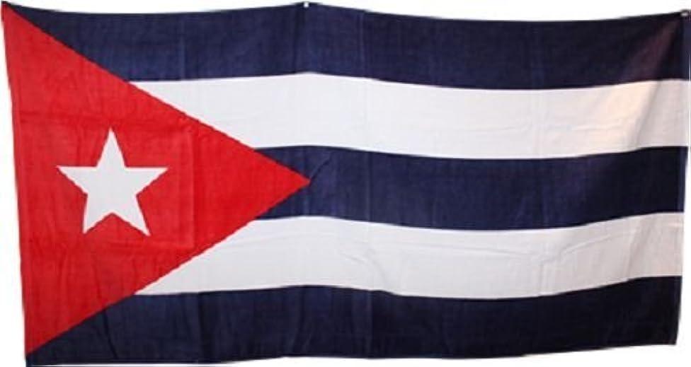 K's Novelties Cuba Cuban 30 x 60 Beach Towel (Cotton Twill)