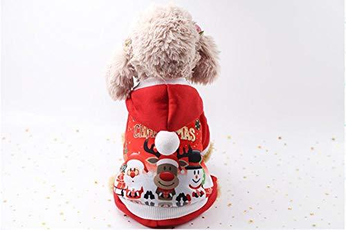 WLWNB Hond Kostuum Mooie Zachte Comfortabele Kleding Kerstman Rijden Kerstmis Outfit Hond Jumper voor Huisdieren Doek