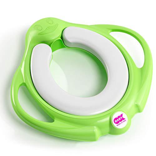 OKBABY Pinguo Soft - Riduttore per WC con Morbida Seduta Imbottita - Verde