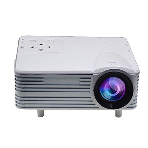 Xiauyu Mini proyector LED portátil, HD 1080P Home Theater Video Projector, compatible con USB HDMI AV TF VGA, para interior y exterior (blanco)