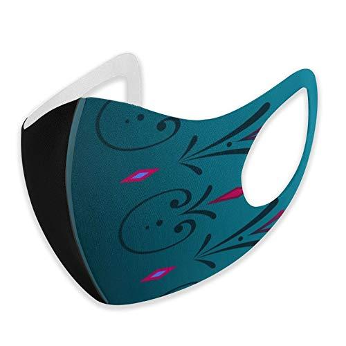 Fsrkje ELSA Krönungskleid Kontinuierliche Grenze Breite Staub Gesichtsbedeckung, absorbieren Schweiß waschbar Wiederverwendbare Sturmhaube Mod