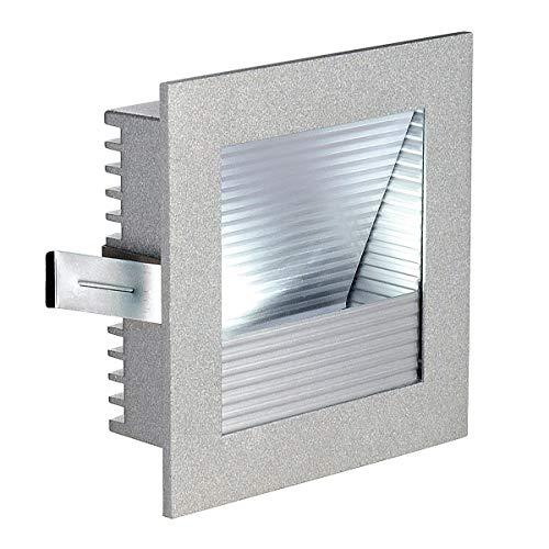 SLV LED Einbauleuchte Frame Curve | Wand- und Deckenleuchte zum Einbau | Eckig, Silber, 4000K Neutralweiß | Stilvolle Wandleuchte, Einbau-Strahler LED Treppen-Beleuchtung, Stufen-Licht, Treppenlicht