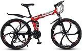 YIHGJJYP Bicicleta De Montaña 26' 27 Velocidad Bicicletas para el Bastidor suspensión Adultos Ligera Completa Tenedor del Freno Disco,Set-13