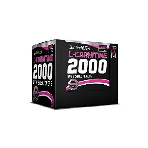 BioTech USA L-Carnitine Ampulle (2000) 20x25 ml Lemon, 1er Pack (1 x 500 ml)