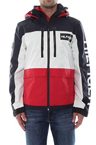 Tommy Hilfiger Herren TECH Hooded Jacket Jacke, Rot (Haute Red 611), Medium