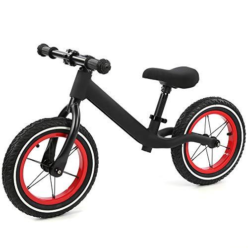 LLF Bicicletas sin Pedales, Bicicleta De Equilibrio para Niños, Marco De Acero De Nailon, Bicicleta Deslizante para Niños, Sin Pedal, Mini Bicicleta Equilibrada para Niños De 2 A 6 Años, Negro