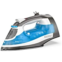 Black+Decker One Step Steam Iron with Stainless Nonstick Soleplate and Cord Reel (Blue)