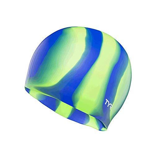 TYR Multi Silicone Cap, Green
