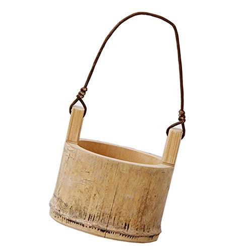 DIYARTS Pote de bambú de los plantadores de la Cesta de la ejecución, Maceta montada en la Pared de los plantadores Que cultiva un huerto Decorativo